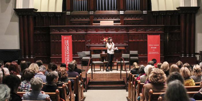 Amanda Bullock speaking at Wordstock 2015