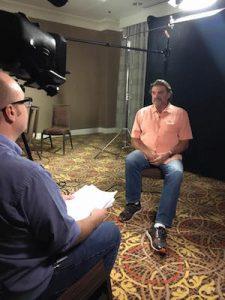 Jackson Michael interviewing Dan Pastorini