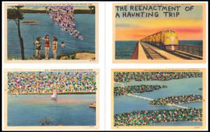 Postcard-like art of various locations